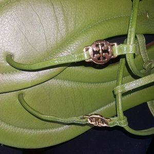 size 9 Green Tory Burch Sandles